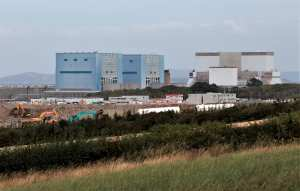 Hinckley Point Nuclear Power Station, Somerset, England.