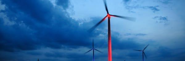 Windpark Uetersen angestrahlt
