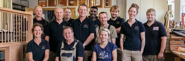 Das Team der Tischlerei FreiStil.