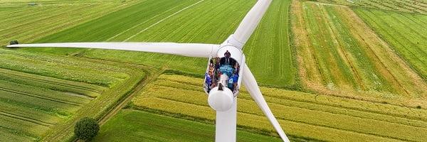 Der Windpark Uetersen von oben