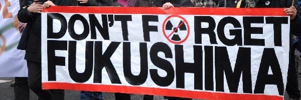 Banner auf der Anti-Atom-Demo